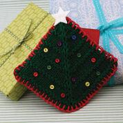 Lily Sugar'n Cream Christmas Tree Gift Card Cozy