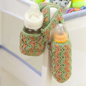 Red Heart Baby Bottle Cozy & Bib