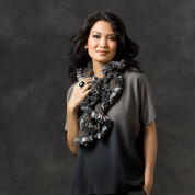 Red Heart Ruffle Chips Scarf