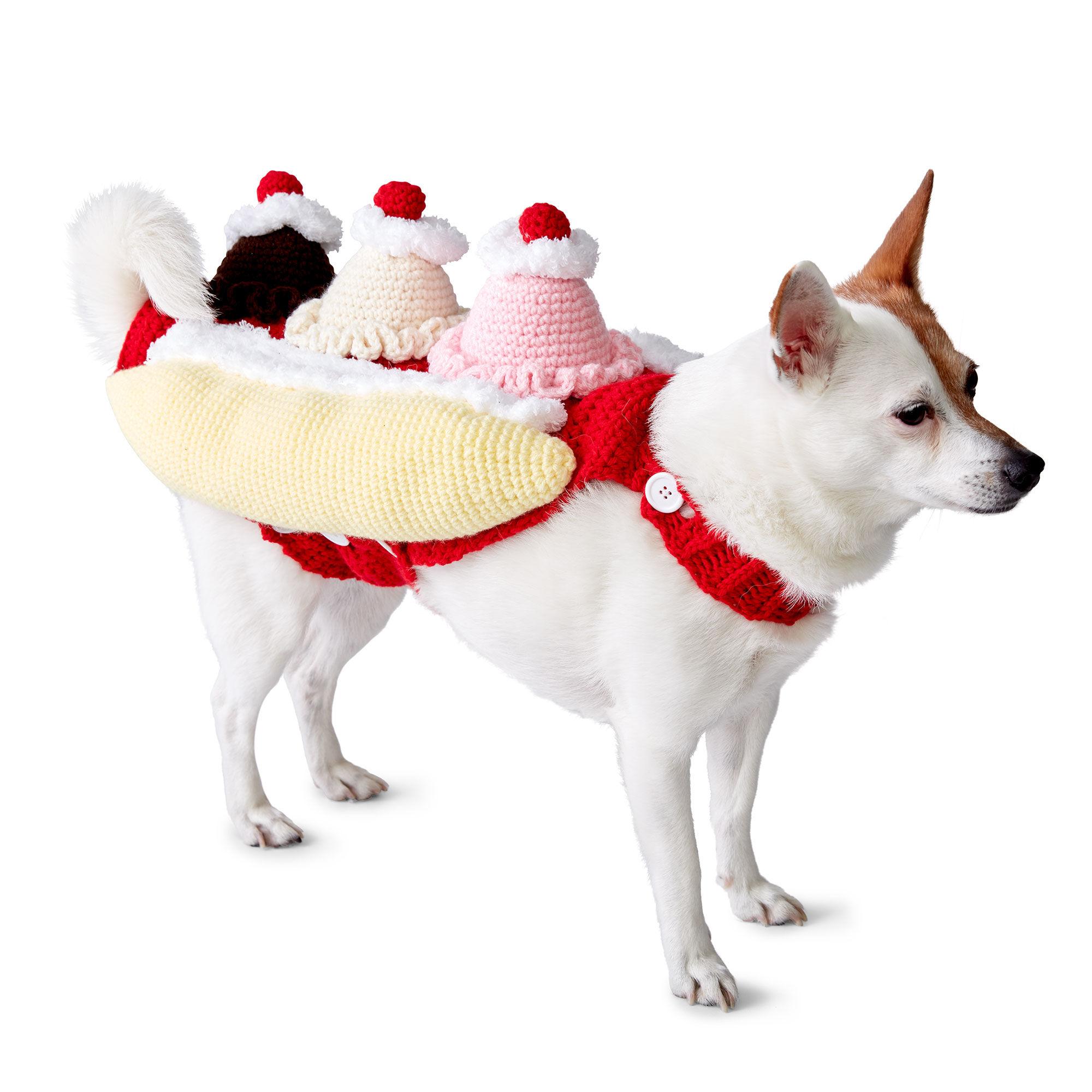 Bernat That\'s Bananas! Crochet Dog Coat, S Pattern | Yarnspirations