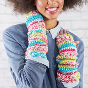 "Go to Product: Red Heart Crochet Fair Isle Arm Warmers, Wrist: 6"" in color"