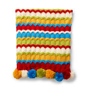 Go to Product: Caron Cheerful Ripple Knit Blanket in color