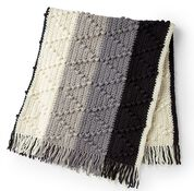 Go to Product: Bernat Bobble Chevron Striped Crochet Blanket in color