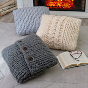 Red Heart Comfort Cable Pillow
