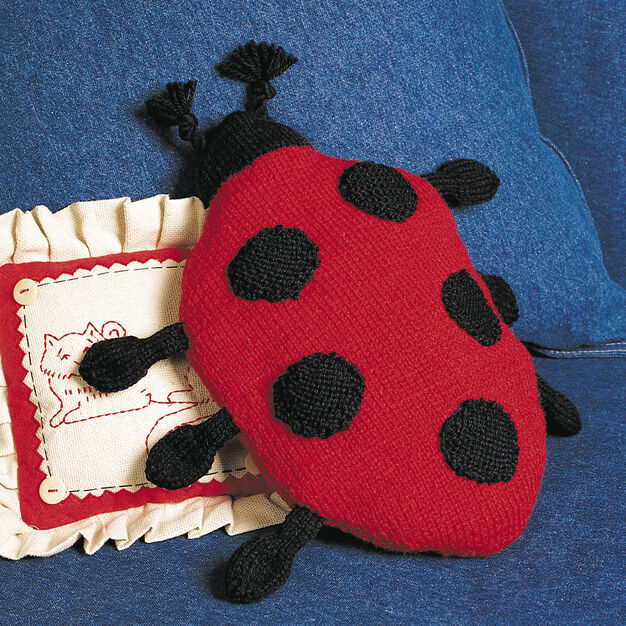 Patons Ladybug Pillow in color