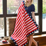 Go to Product: Red Heart Ships Ahoy Patriotic Throw, Super Saver in color