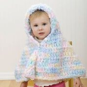 Red Heart Hooded Crochet Baby Poncho, 6 mos