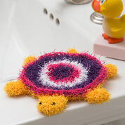 Red Heart Turtle Bath Scrubby