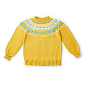 Bernat Circle Around Knit Pullover, XS/S