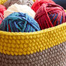 Bernat Dip Edge Crochet Basket, Version 1 in color