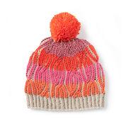 Caron x Pantone Brioche Cables Knit Hat