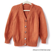 Go to Product: Caron Adult Knit V-Neck Cardigan, XS/S in color