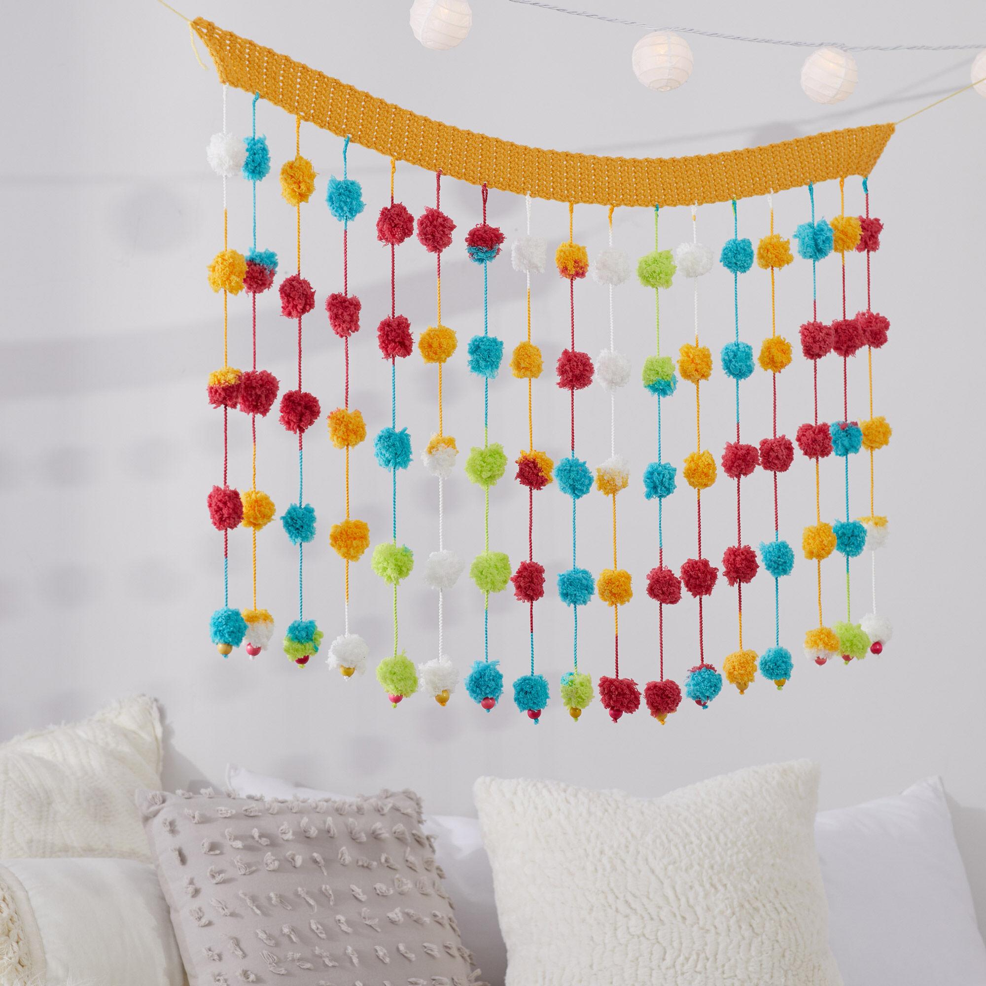 Red Heart Crochet Happy Pompom Banner Yarnspirations
