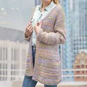 Red Heart Around-Town Cardigan, XS
