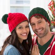 Red Heart Christmas Gift Beanies