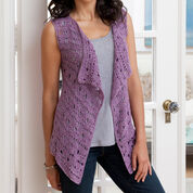 Red Heart Drapey Crochet Vest, S