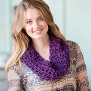 Red Heart Uniquely You Plum Cowl