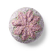 Bernat Crochet Chevron Pouf