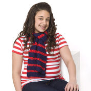 Red Heart Heroic Stripes Scarf