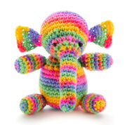 Red Heart Colorful Elephant