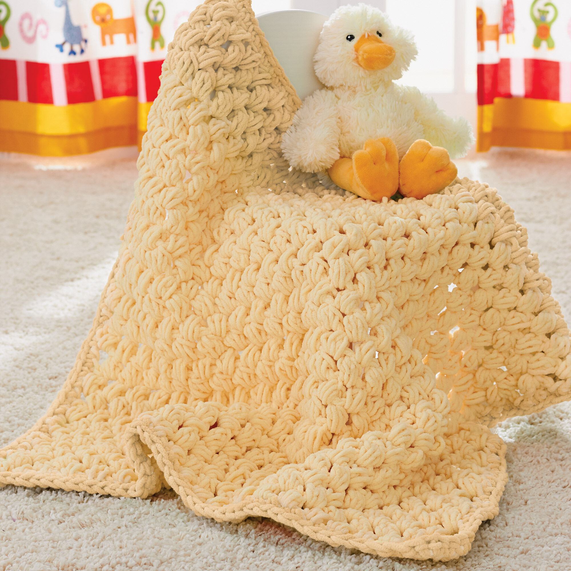 Bernat Puffy Baby Blanket | Yarnspirations