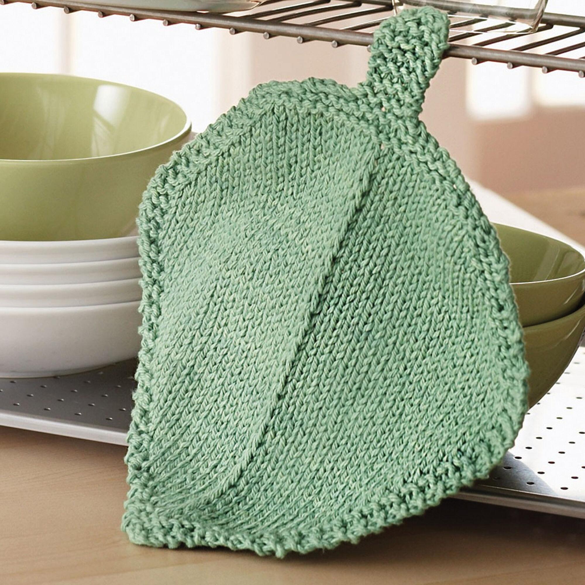 Bernat Garden Leaf Dishcloth   Yarnspirations
