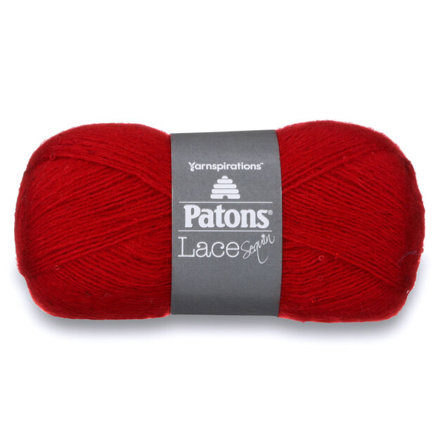 Patons Lace Sequin Yarn, Ruby - Clearance Shades* in color Ruby