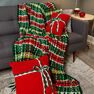 Red Heart Plaid Christmas Blanket in color  Thumbnail Main Image 5}