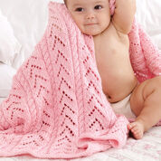 Caron Little Girl Pink Baby Blanket