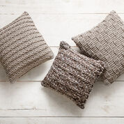 Bernat Crochet Pillow Trio, Vertical Rib