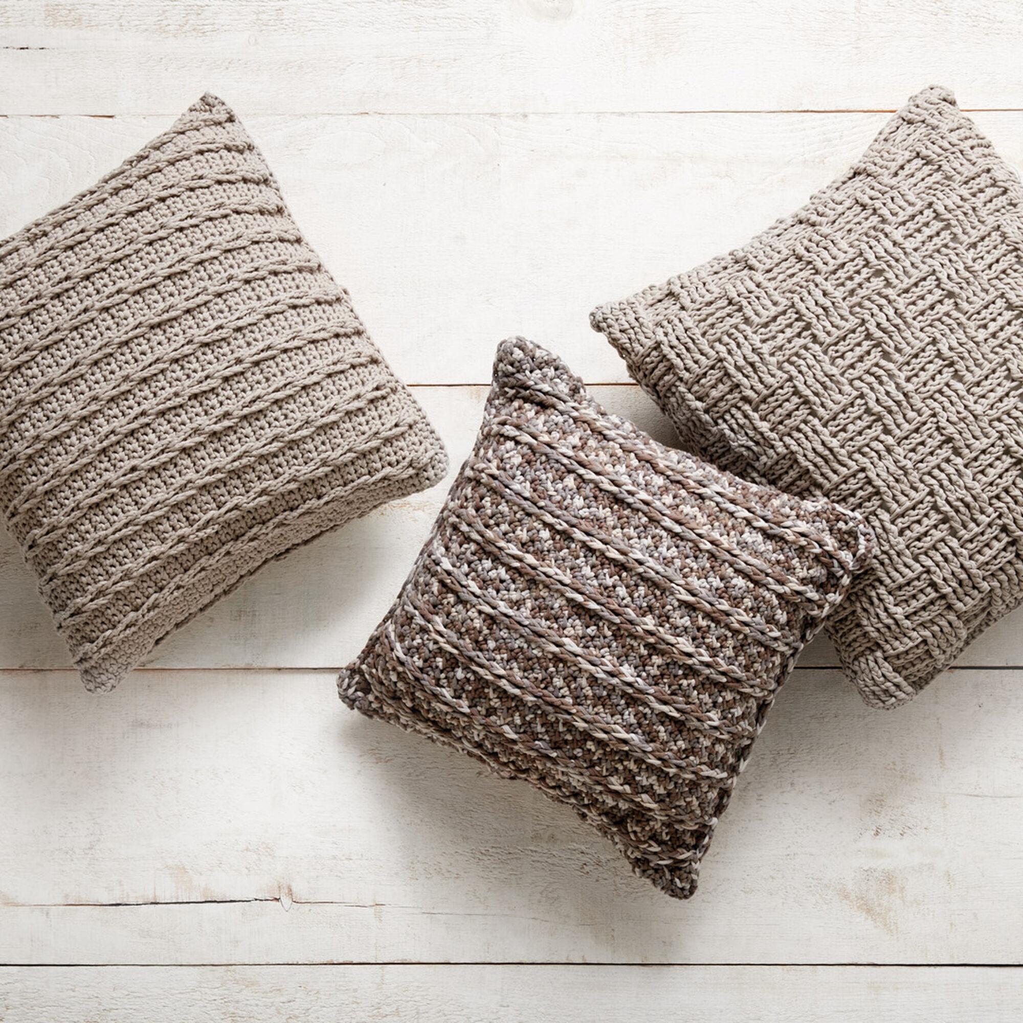 Bernat Crochet Pillow Trio, Vertical Rib | Yarnspirations