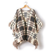 Patons Plaid Blanket Crochet Poncho