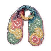Caron Cakes Calico Flowers Crochet Scarf