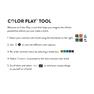 Caron x Pantone Knit Stripe Scarf in color