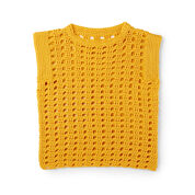 Caron Hello, Yellow! Crochet Top, XS/S