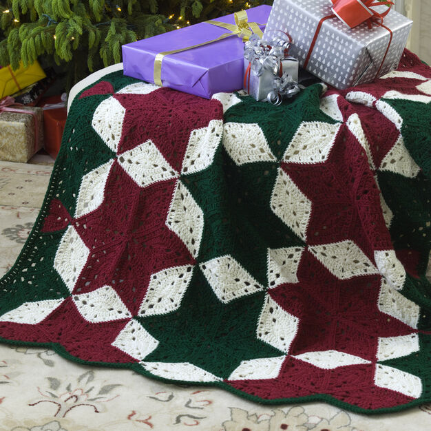 Red Heart Christmas Star Throw in color