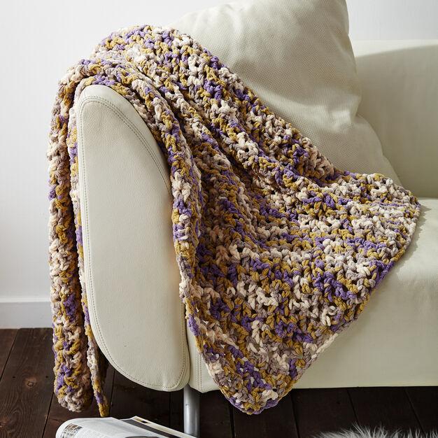 Bernat Easy Peasie Blanket Yarnspirations Custom Bernat Blanket Yarn Crochet Patterns