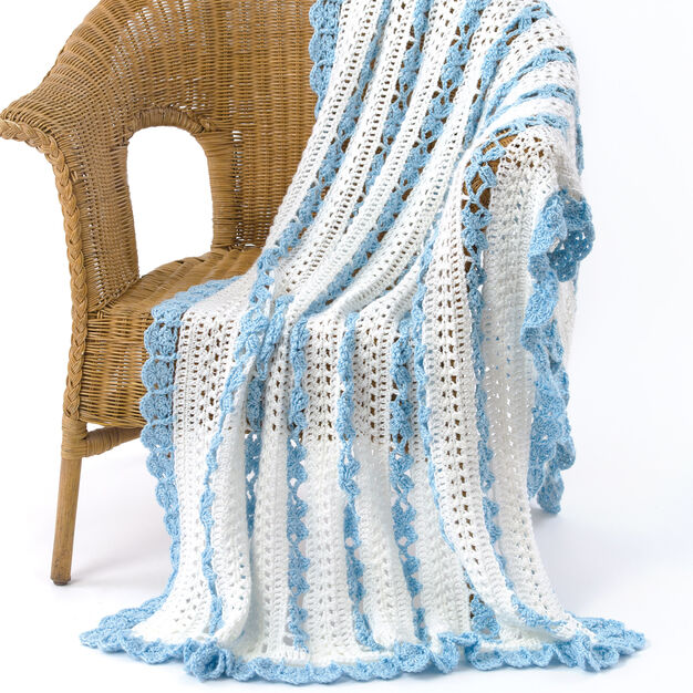 Caron Open Lacy Throw in color