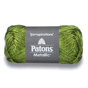 Patons Metallic Yarn, Metallic Green