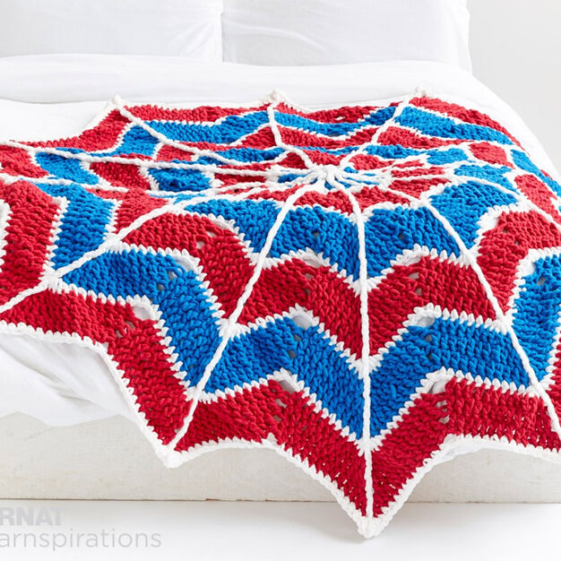 Bernat Spiderweb Crochet Blanket