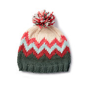 Caron x Pantone Knit Chevron Hat , Version 1