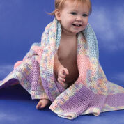 Caron Patchwork Plaid Baby Blanket