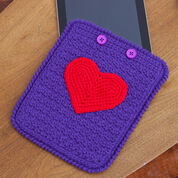 Go to Product: Red Heart Love My iPad Crochet Case in color