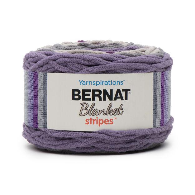 Bernat Blanket Stripes Yarn (300g/10.5 oz), Eggplant   Yarnspirations