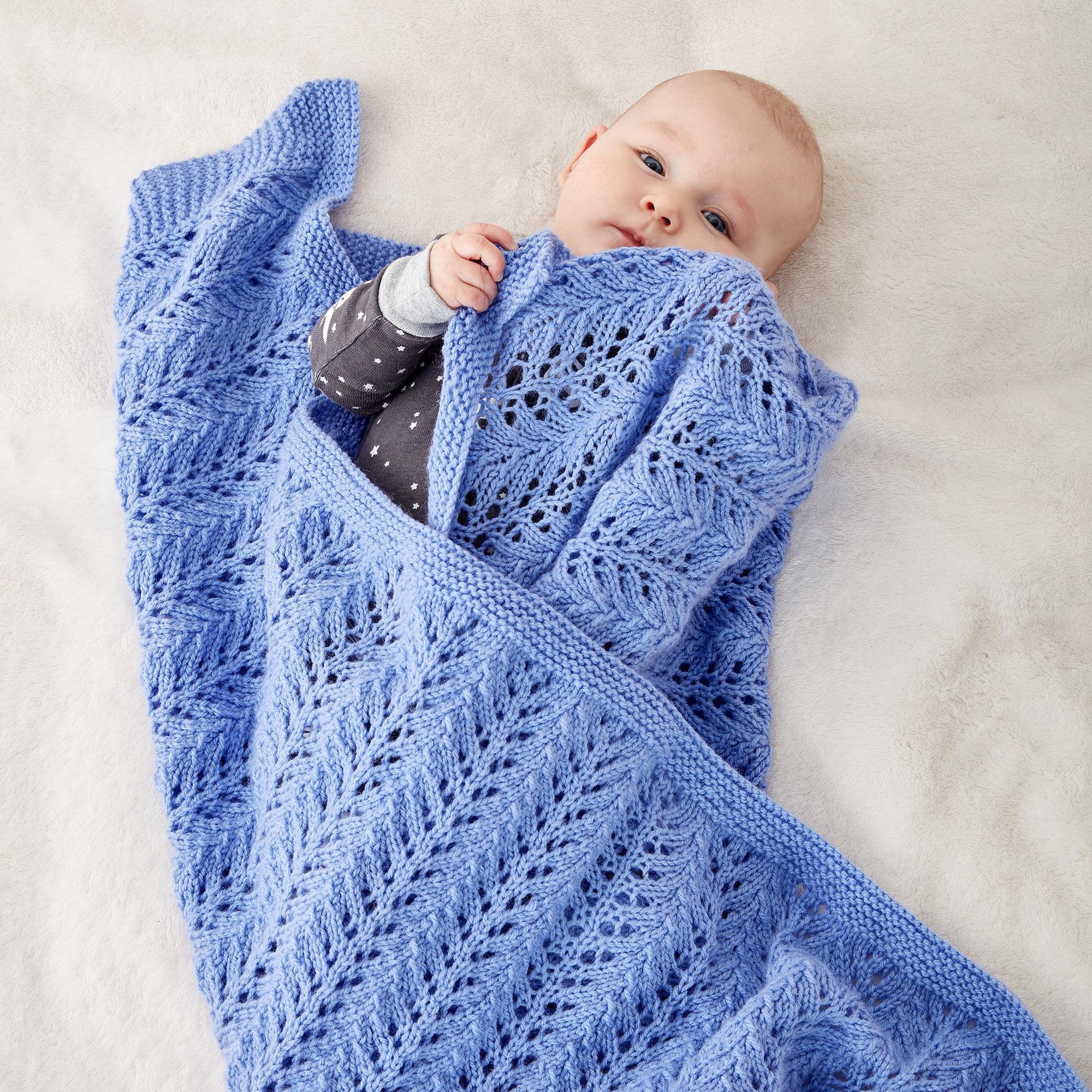 Bernat Lacy Knit Baby Blanket | Yarnspirations