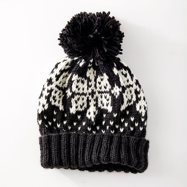 Caron Nordic Flake Hat in color