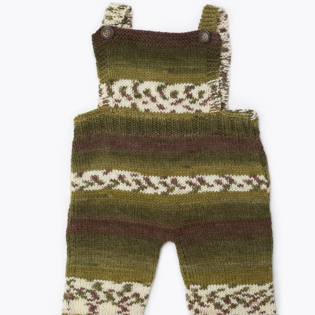Red Heart Comfy Knit Baby Overalls, 3 mos in color