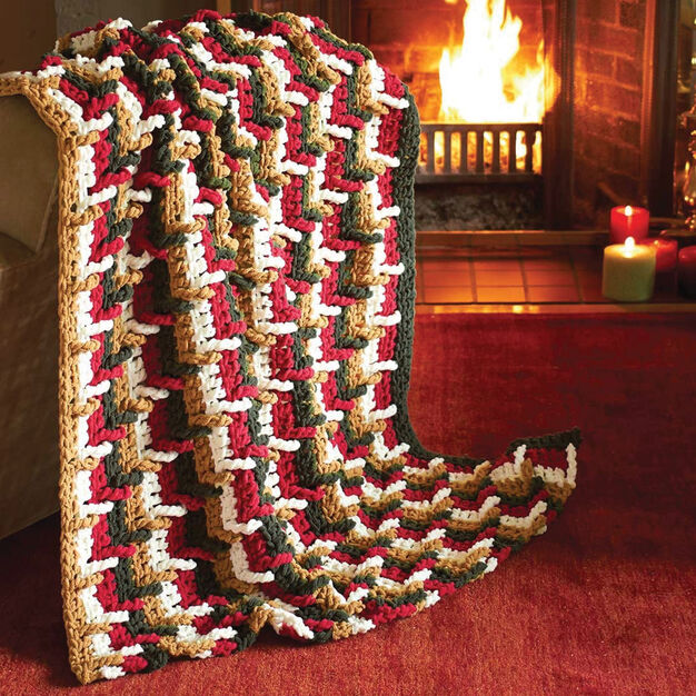 Bernat Step Ladder Afghan in color