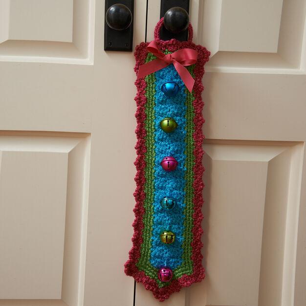 Red Heart Jingle Bells Door Hanger in color