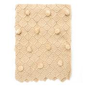 Bernat Lattice Pompom Blanket